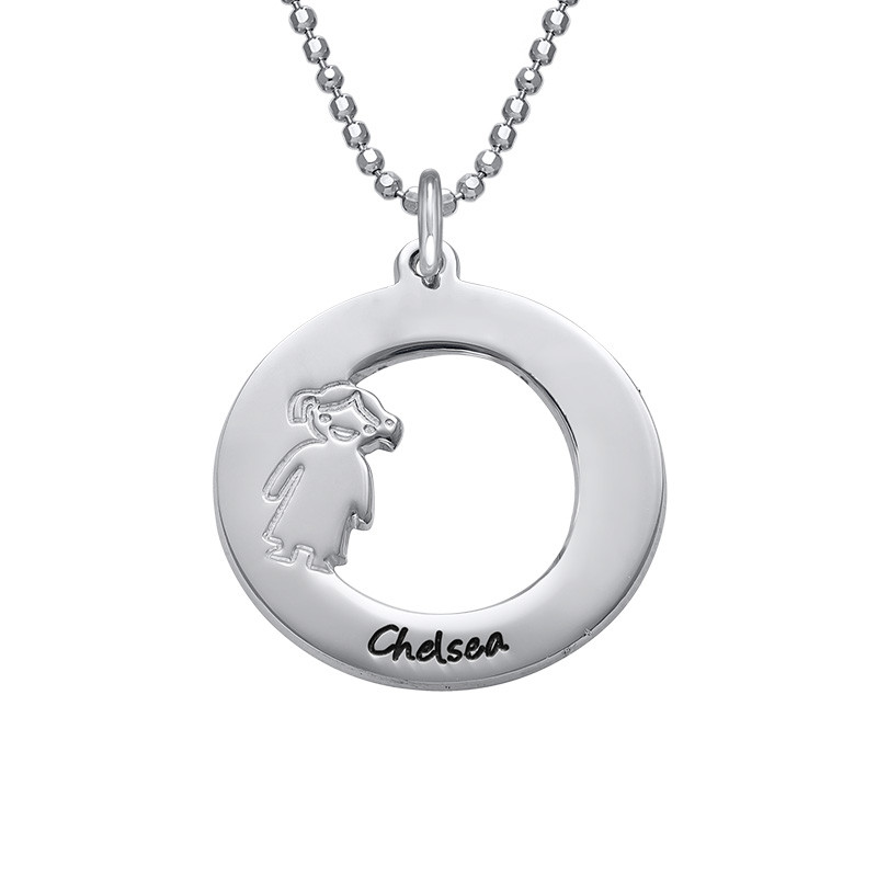 Necklace with Children's Names in Silver - 1