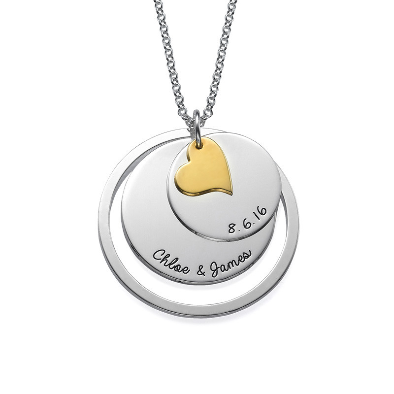 Love Discs Necklace in Silver - 1