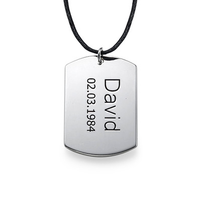 Silver Heart Necklace & Dog Tag Set - 2