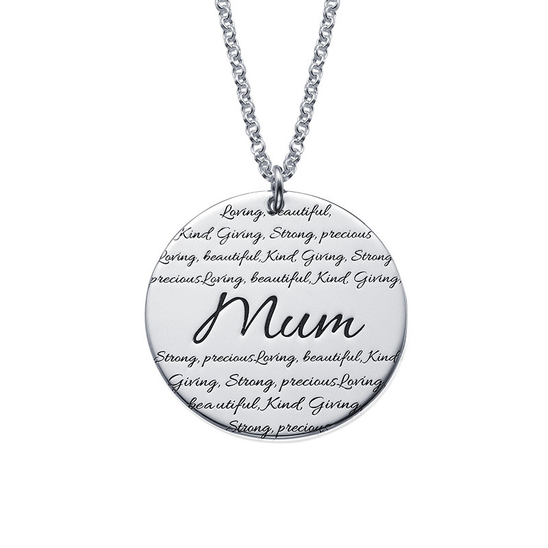Inspirational Engraved Mum Necklace