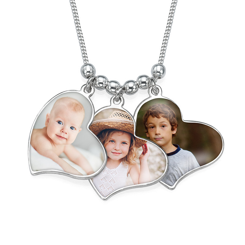 Multiple Photo Charm Necklace