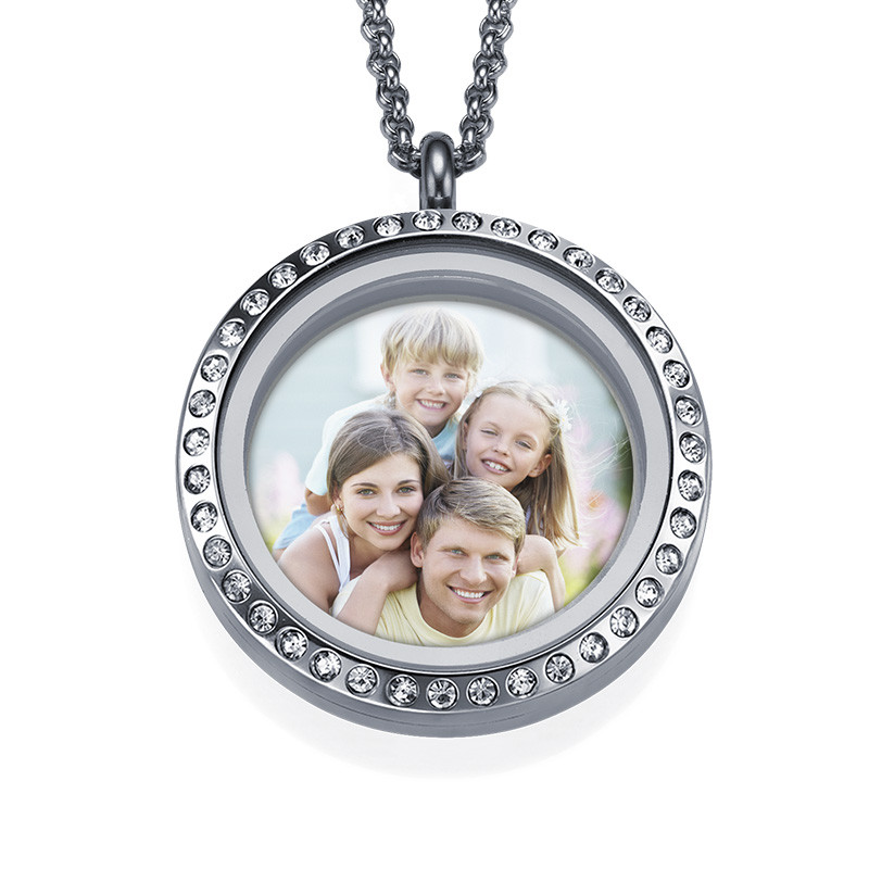 Floating Locket Photo Necklace