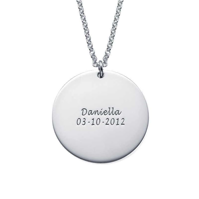Disc Necklace for Mums with Kids Drawings - 1 - 2 - 3