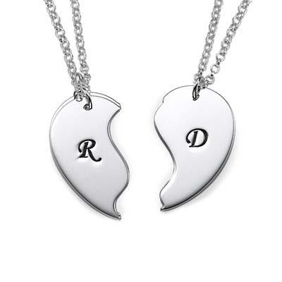 Personalised Initials on Breakable Heart Necklaces - 1