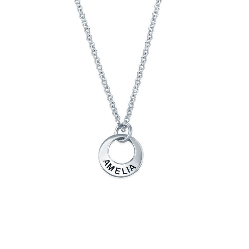 Tiny Silver Mini Disc Necklace
