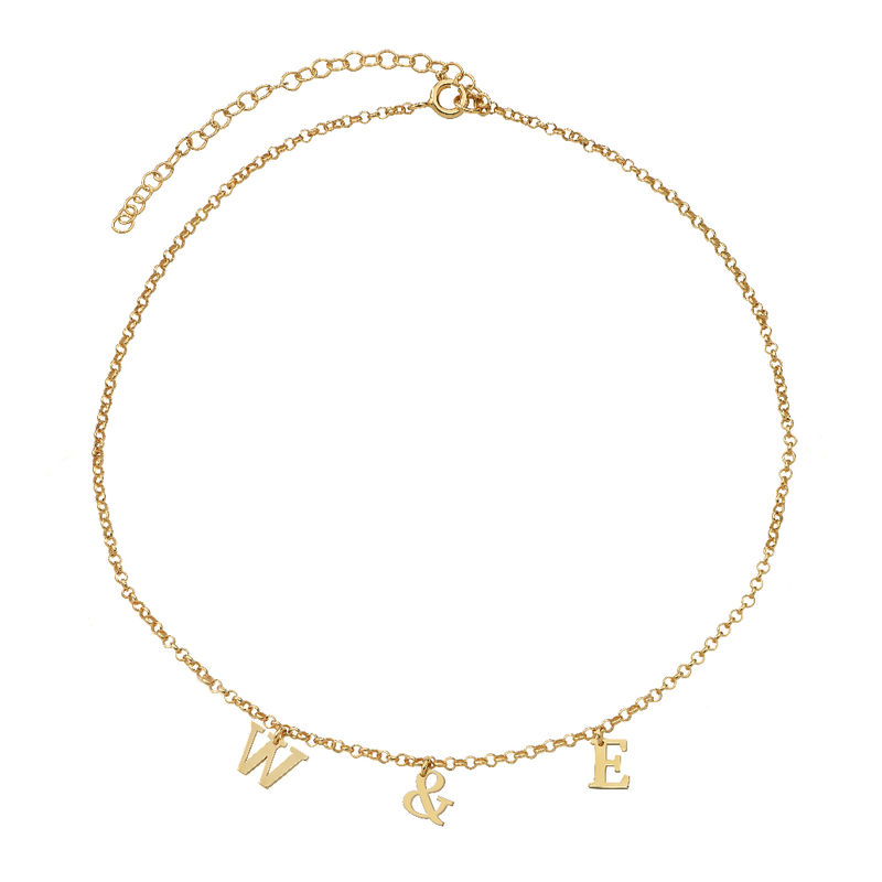 Name Choker with 18ct Gold Plating - 2