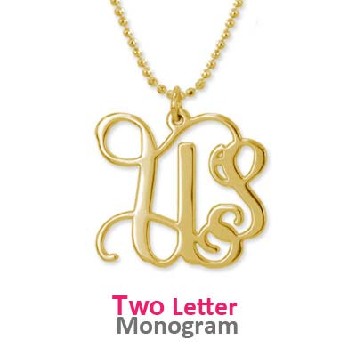 18ct Gold Plated Sterling Silver Initials Necklace - 2