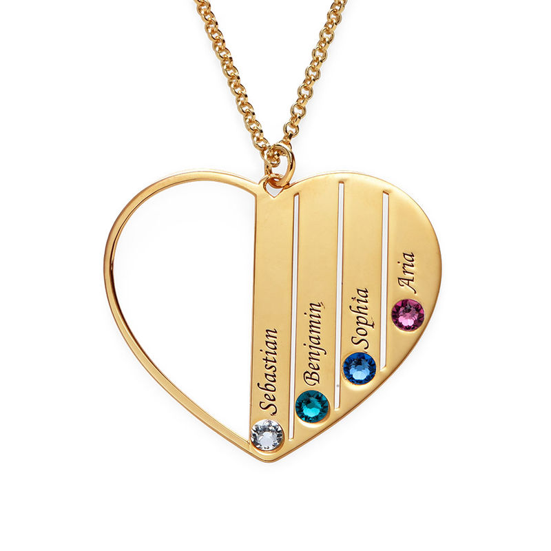 Mum Birthstone necklace in Gold Plating