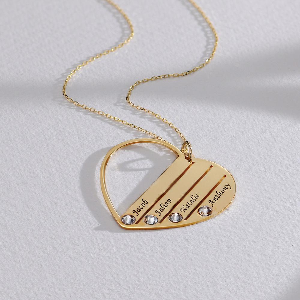 Mum Birthstone Necklace in Gold 10ct - 1