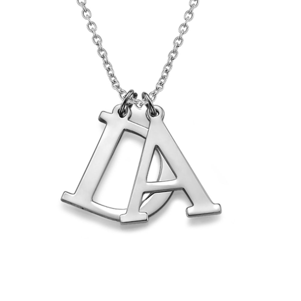Initials Necklace in Silver - 1