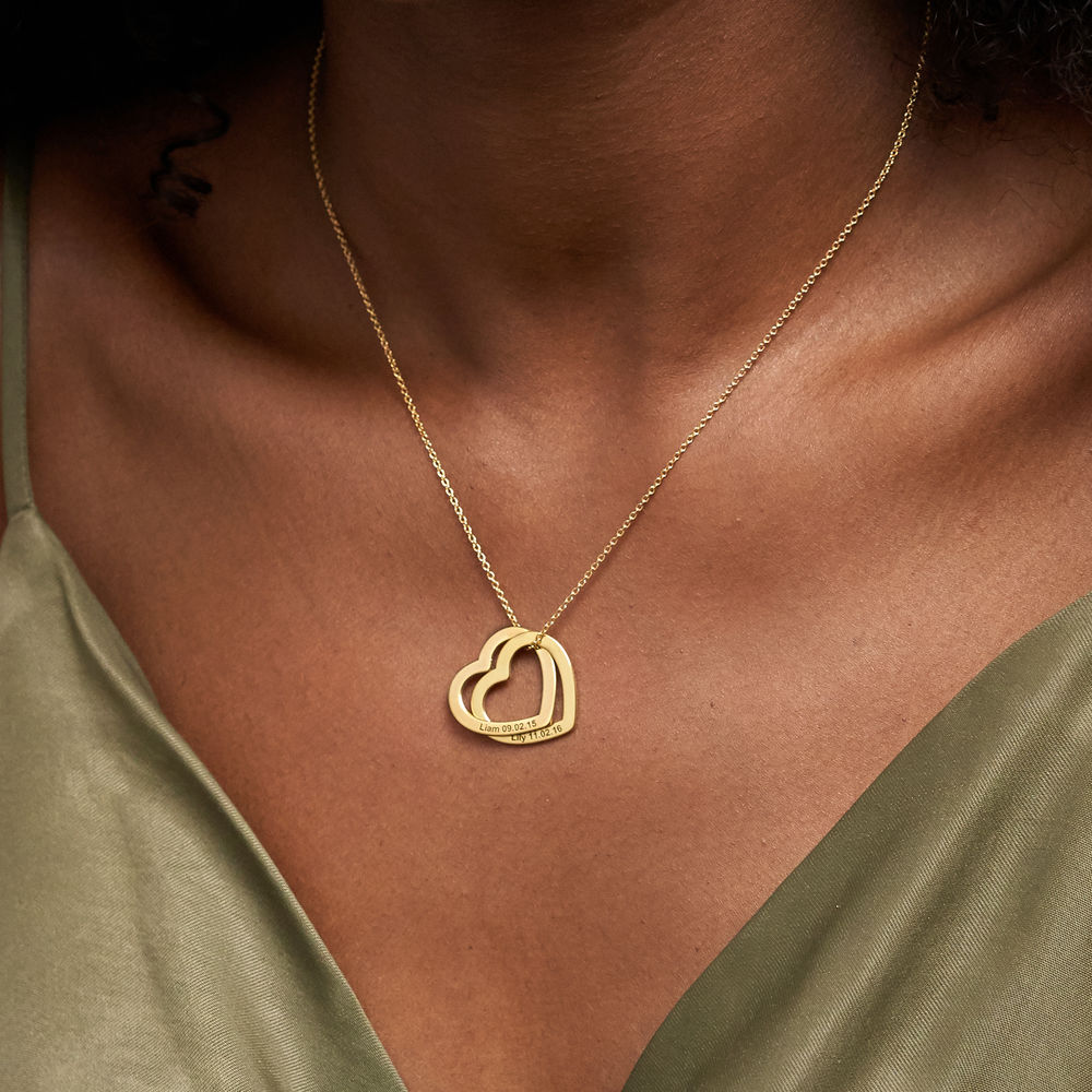 Interlocking Hearts Necklace  with 18ct Gold Plating - 3