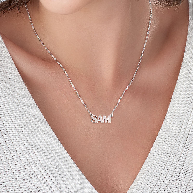 Capital Letters Name Necklace in Sterling Silver - 2