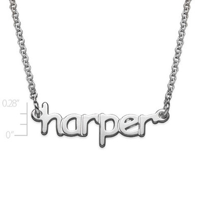Tiny Name Necklace in Sterling Silver for Teens