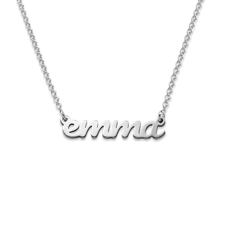 Sterling Silver Signature Name Necklace for Teenagers - 1