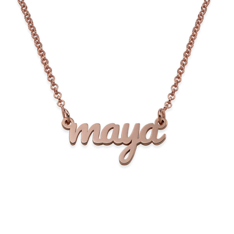 18ct Rose Gold Plated Signature Name Necklace for Teenagers