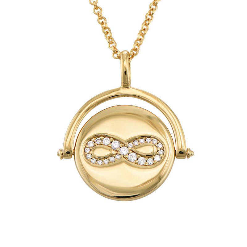 Spinning Infinity  Pendant Necklace in Gold Plating