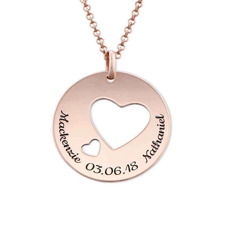 Love Circle in Rose Gold Plated