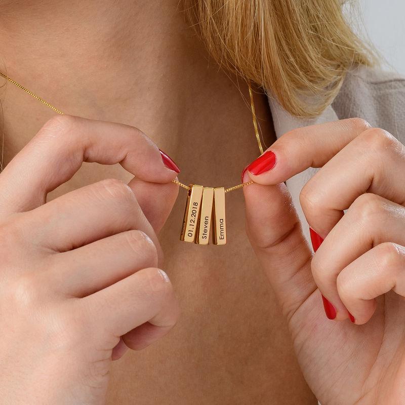 Short 3D Necklace Bar in Gold Plating - 7