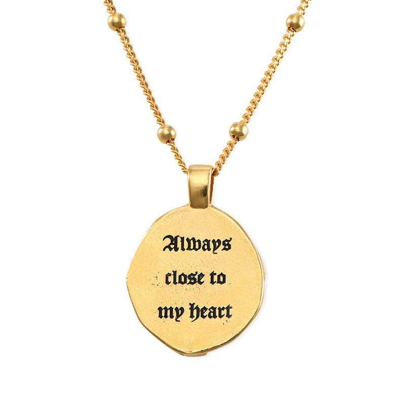 Jesus Christ Coin Necklace in Gold Plating - 1