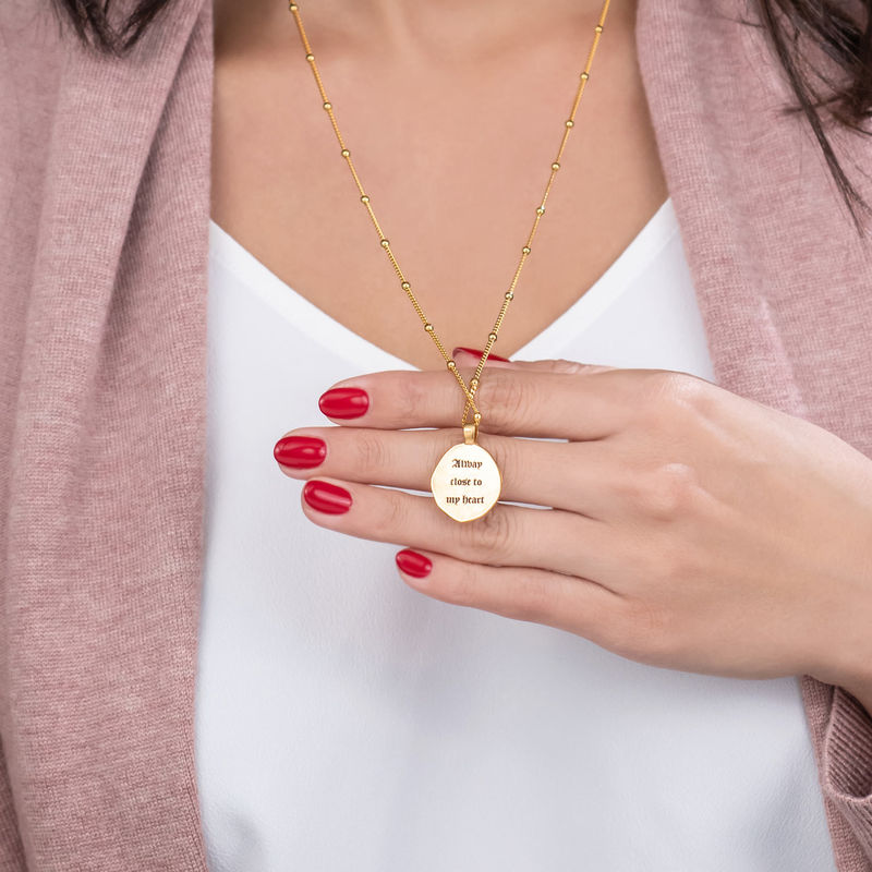 Jesus Christ Coin Necklace in Gold Plating - 5