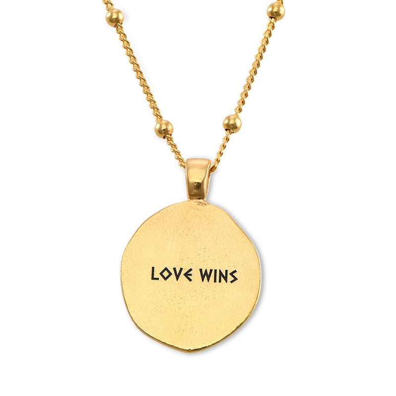 Aphrodite Coin Necklace in Gold Plating - 1