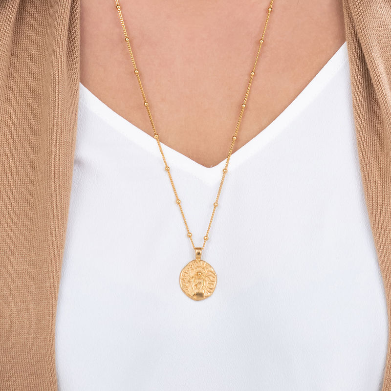 Aphrodite Coin Necklace in Gold Plating - 3