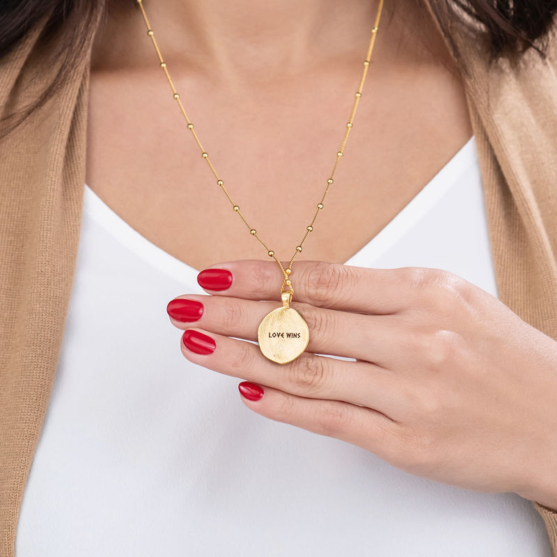 Aphrodite Coin Necklace in Gold Plating - 5