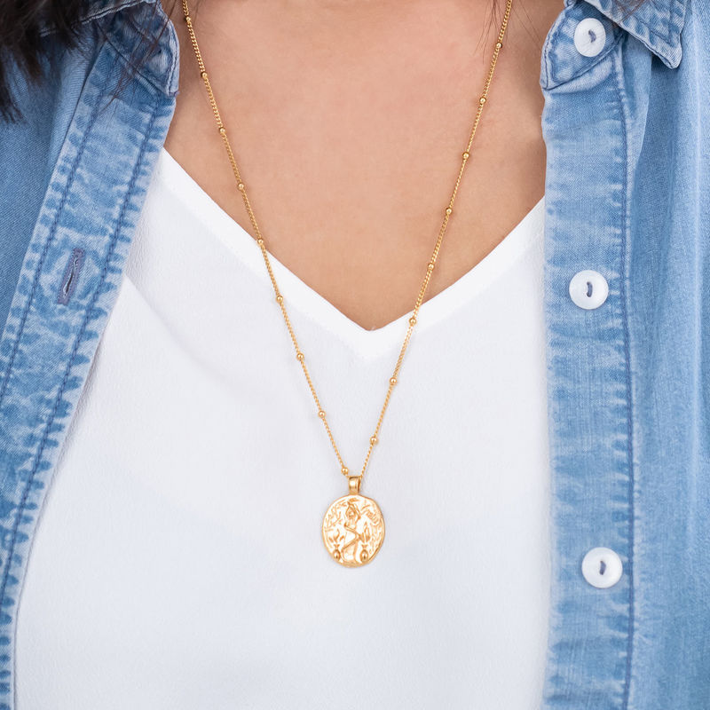 Hygieia Coin Necklace in Gold Plating - 3