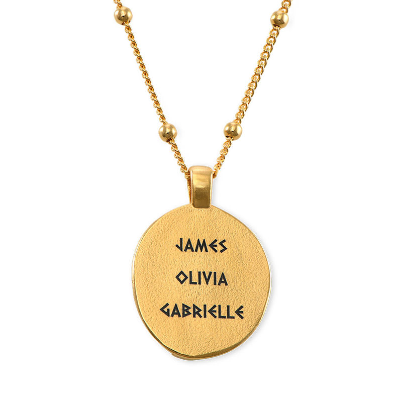 Hestia Coin Necklace in Gold Plating - 1