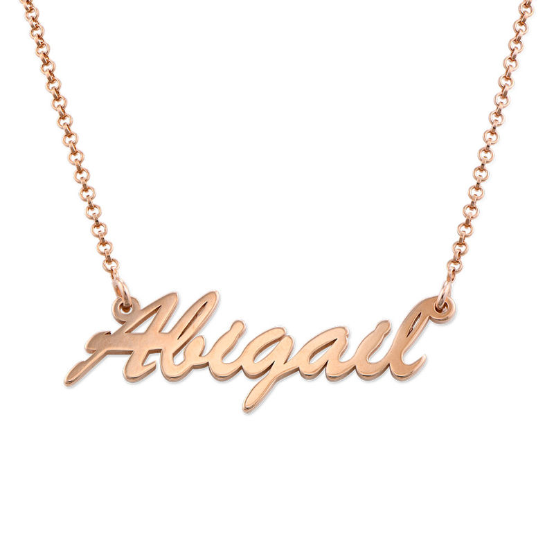 Name Necklace in Rose Gold Plating