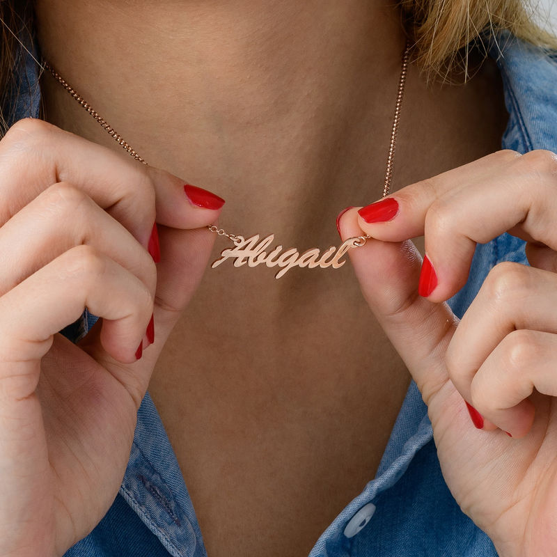 Name Necklace in Rose Gold Plating - 2