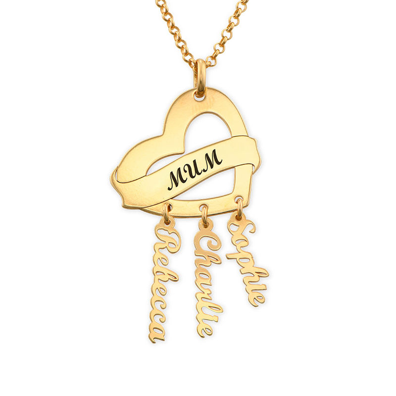 Mother Necklace in Gold Plating with Name Charms