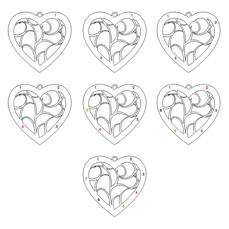 Heart Family Tree Necklace in Sterling Silver - 1 - 2 - 3 - 4