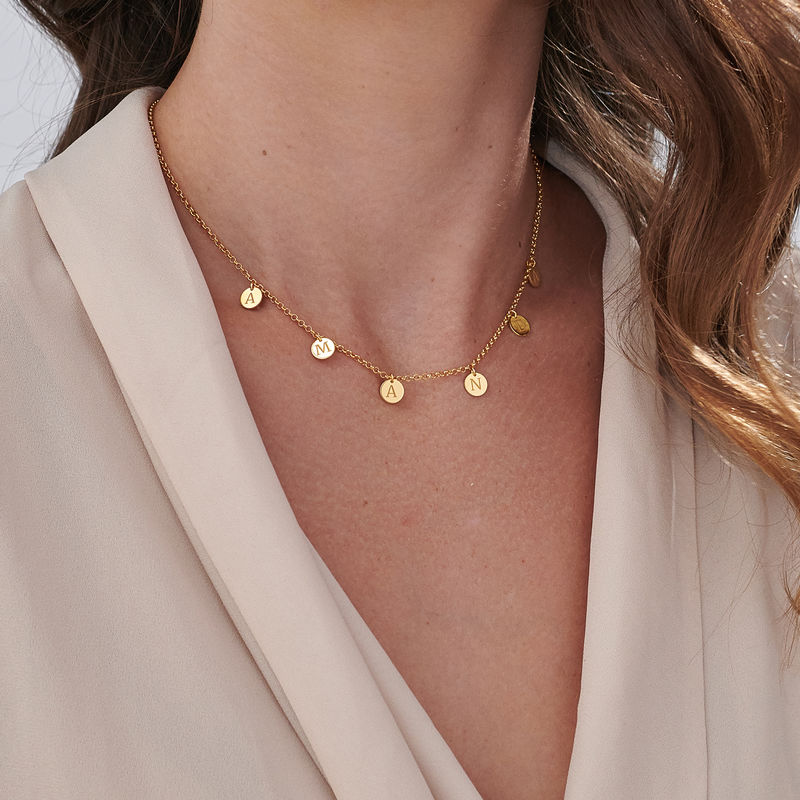 Initials Choker Necklace in Gold Plating - 3