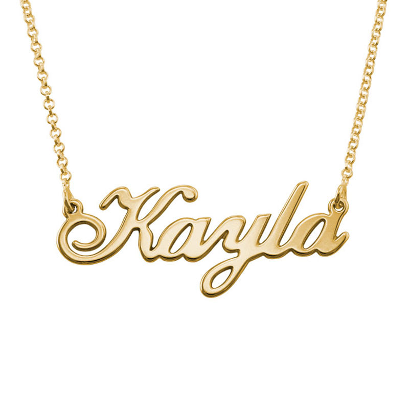 Classic Name Necklace in 18ct Gold Plating - 1