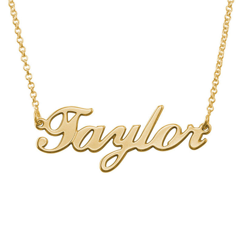 Classic Name Necklace in 18ct Gold Plating - 2