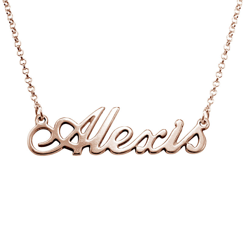 Classic Name Necklace in 18ct Rose Gold Plating
