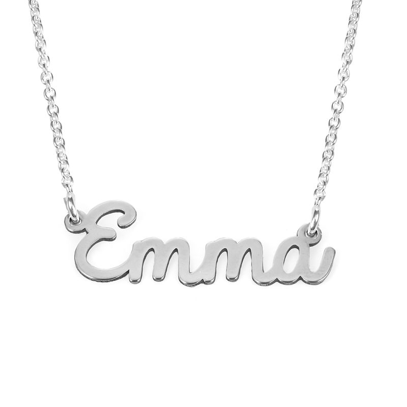 Cursive Name Necklace in Sterling Silver - 1