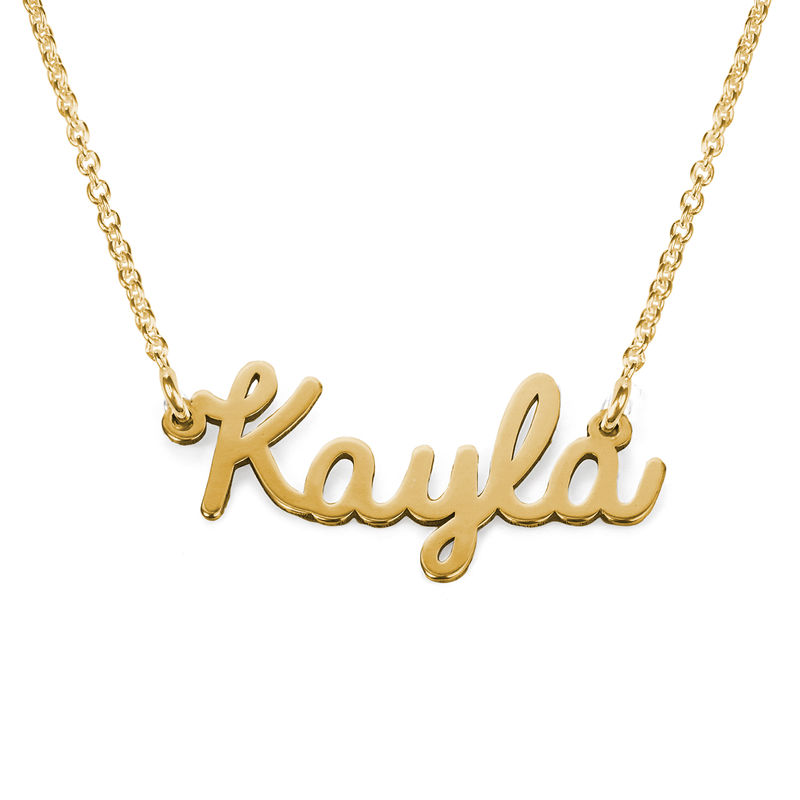 Cursive Name Necklace in 18ct Gold Plating - 1