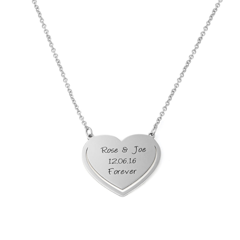 Personalised Heart Necklace in Sterling Silver