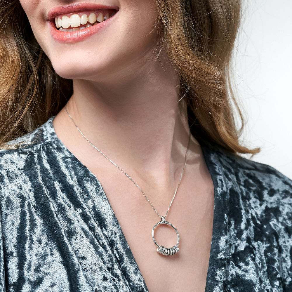Linda Circle Pendant Necklace in Sterling Silver - 6