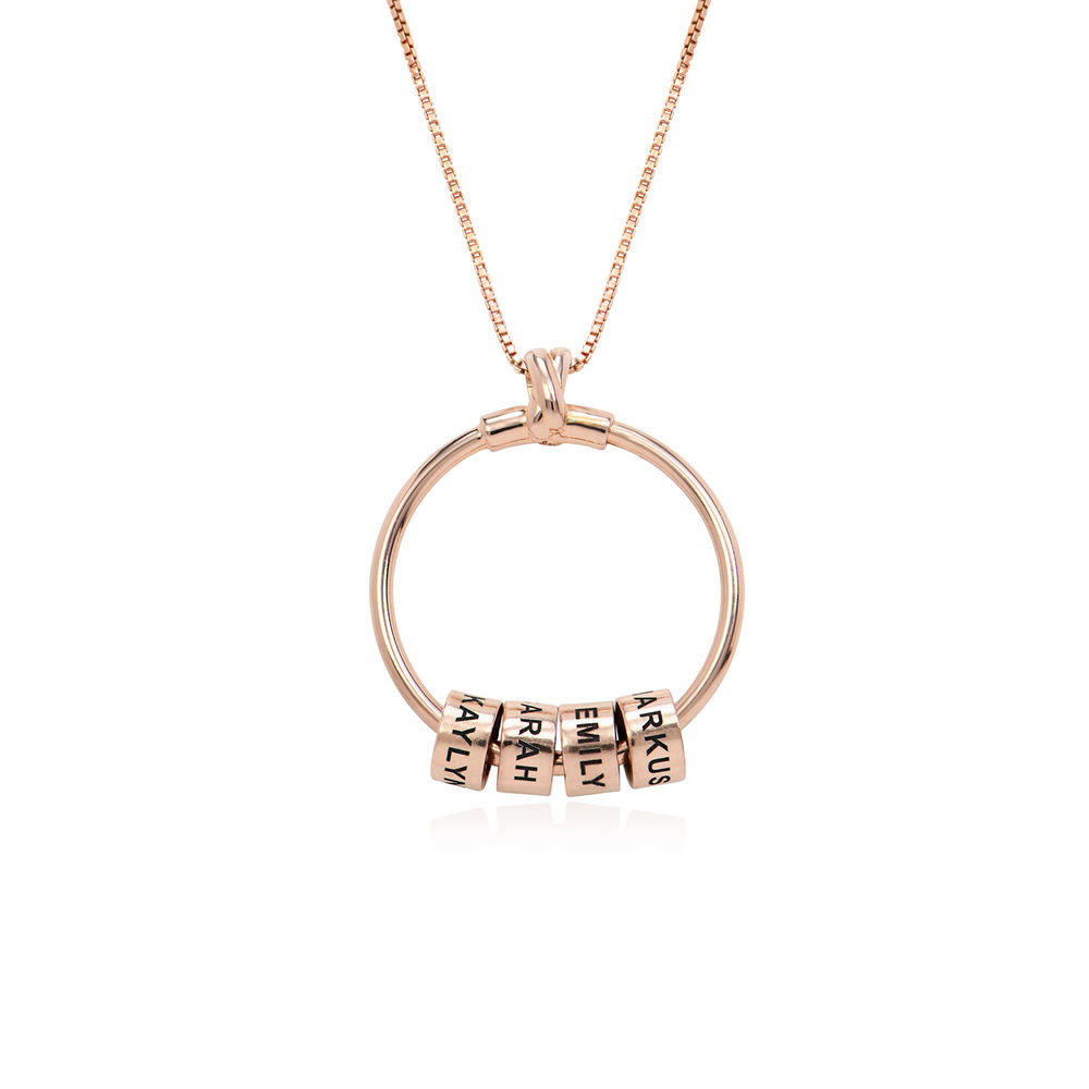 Linda Circle Pendant Necklace in 18ct Rose Gold Plating - 1 - 2