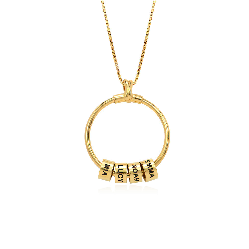 Linda Circle Pendant Necklace in 18ct Gold Vermeil - 2
