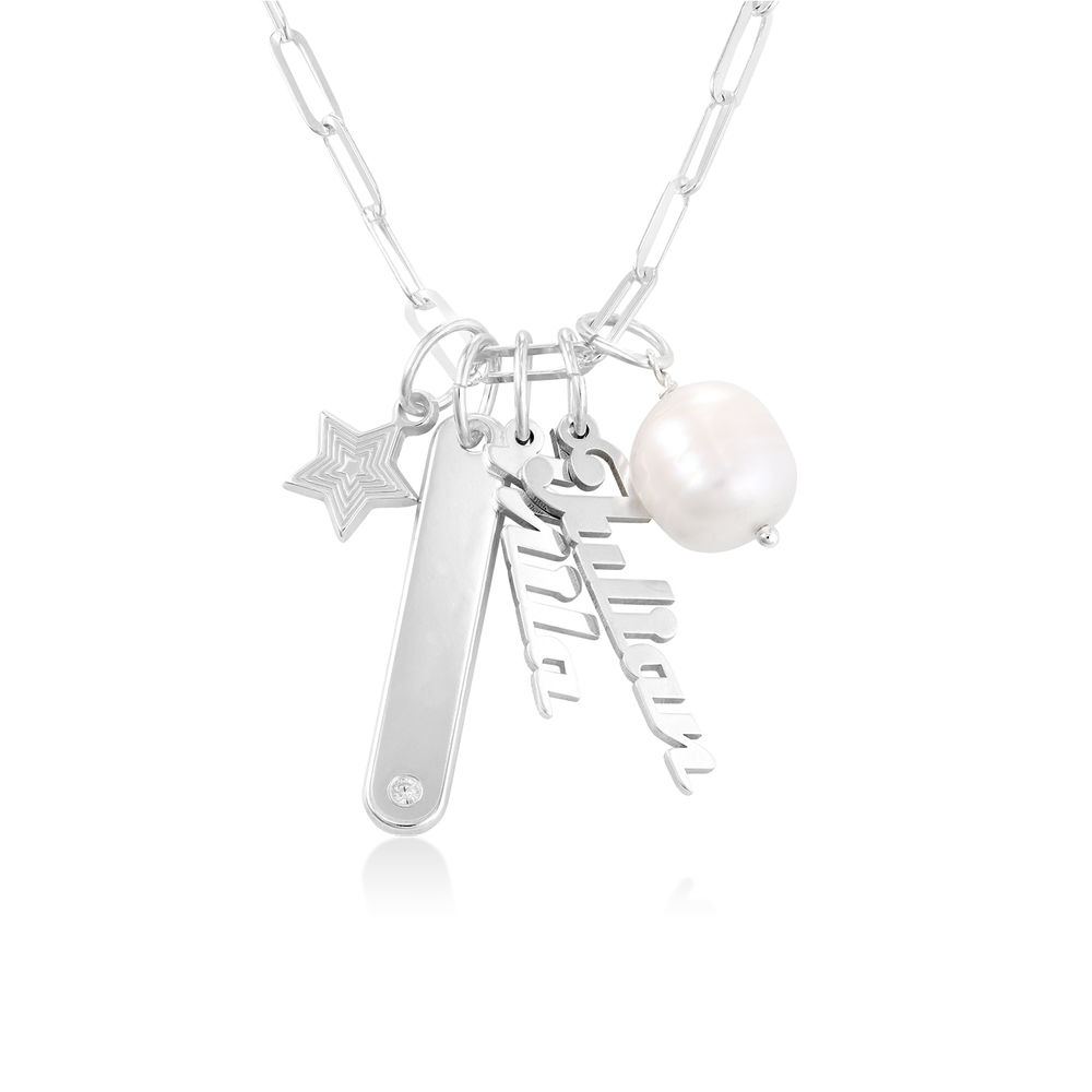 Siena Chain Bar Necklace in Sterling Silver - 1