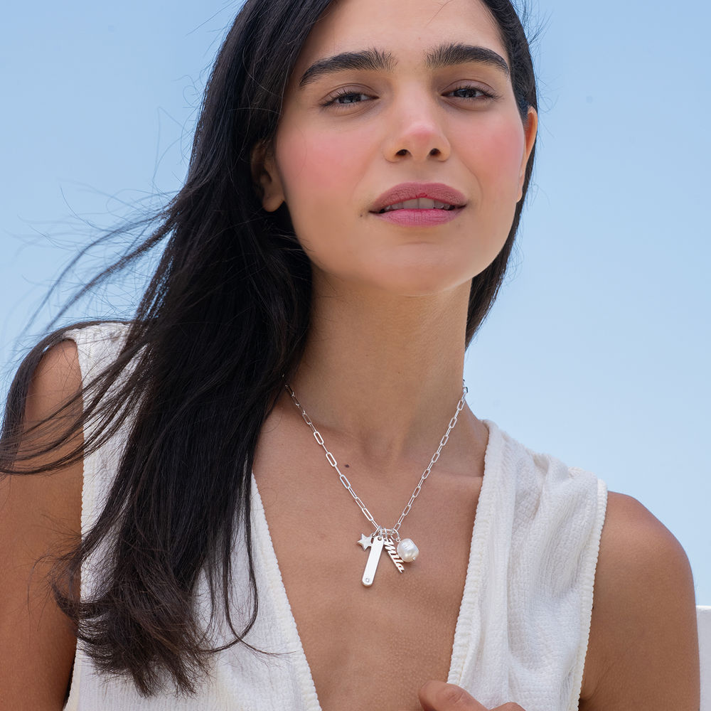 Siena Chain Bar Necklace in Sterling Silver - 3