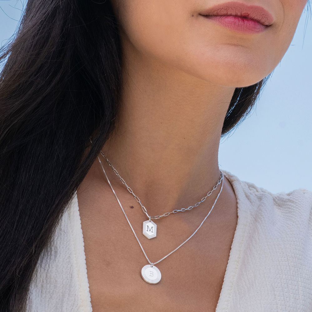 Cupola Link Chain Necklace in Sterling Silver - 1