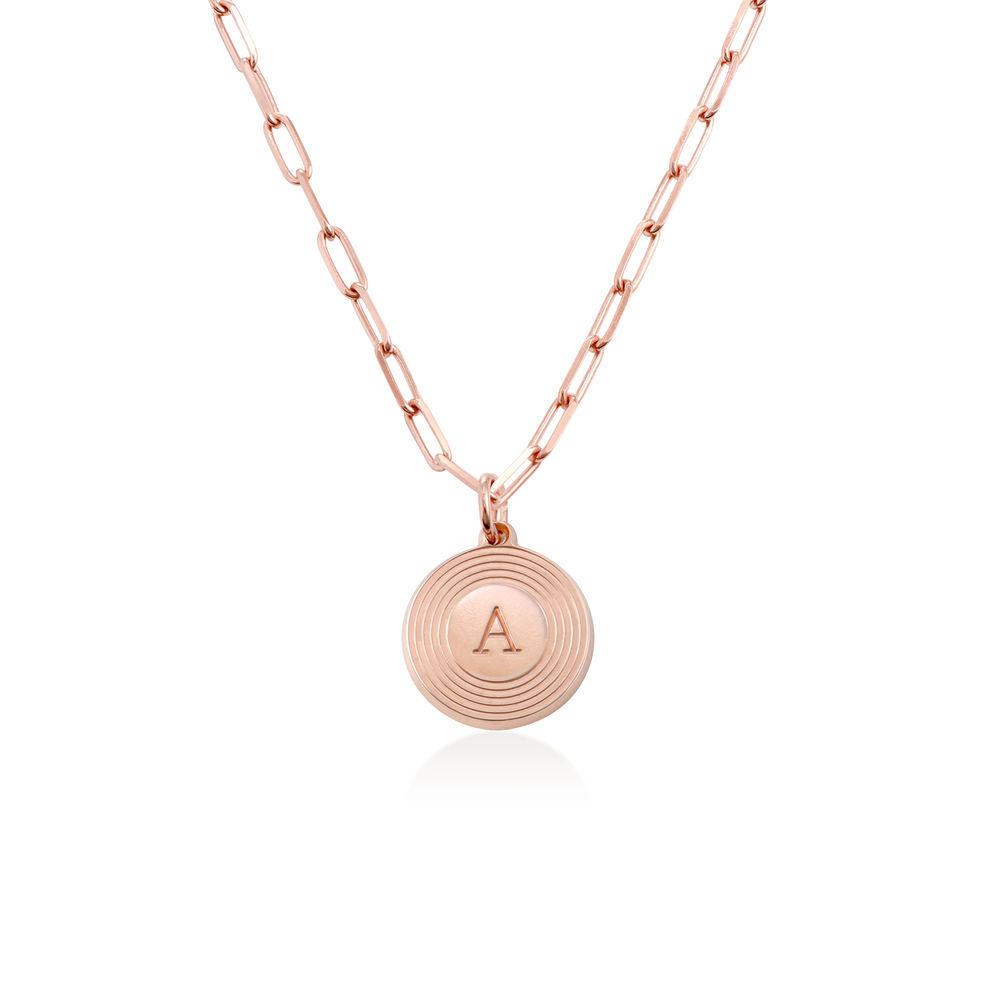 Odeion Initial Necklace in 18ct Rose Gold Plating