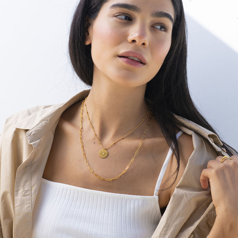 Rayos Initial Necklace in 18ct Gold Plating - 2