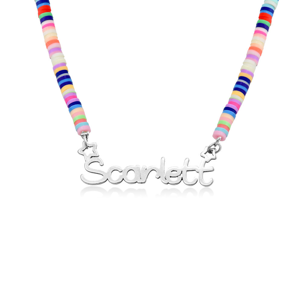 Rainbow Magic Girls Name Necklace in Sterling Silver