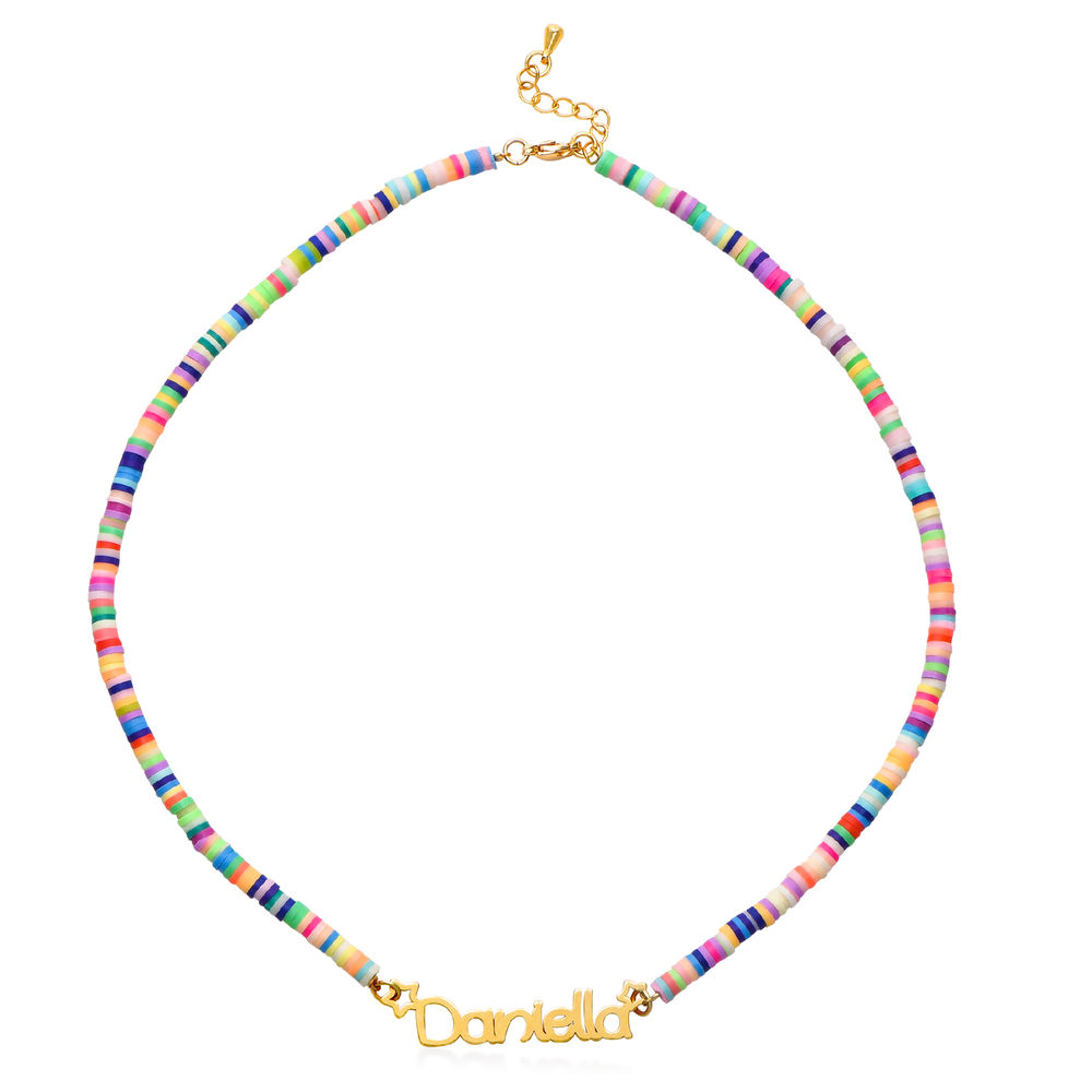 Rainbow Magic Girls Name Necklace in Gold Plating - 1